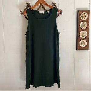 Lord & Taylor • Green Wool Sleeveless Midi Dress